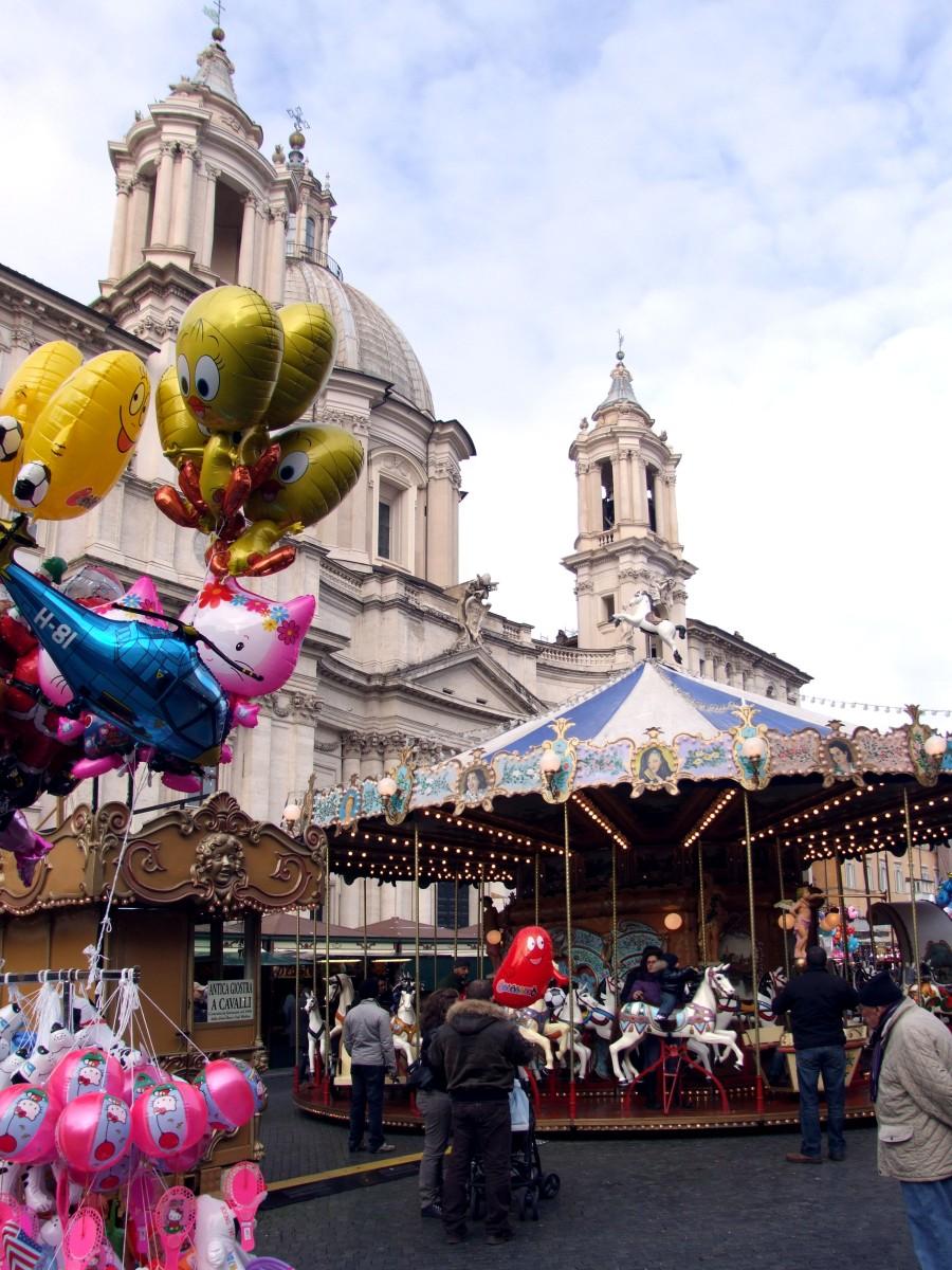 Weihnachtsmarkt auf der Piazza Navona 02